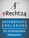 eRecht24-Siegel Datenschutzerklaerung